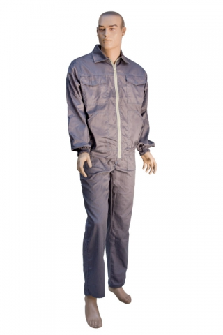 A set OF Gray worker's work wear – overalls, jacket
